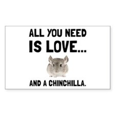 Love And A Chinchilla Decal