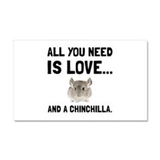 Love And A Chinchilla Car Magnet 20 x 12