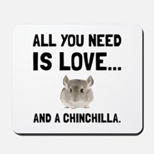Love And A Chinchilla Mousepad