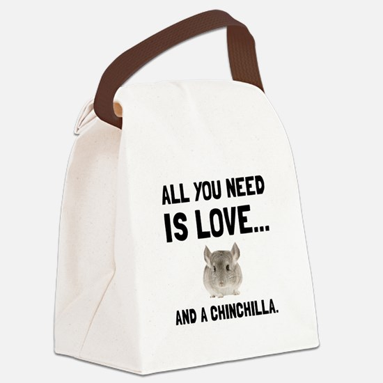 Love And A Chinchilla Canvas Lunch Bag