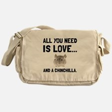 Love And A Chinchilla Messenger Bag