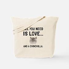 Love And A Chinchilla Tote Bag
