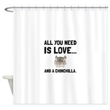 Love And A Chinchilla Shower Curtain