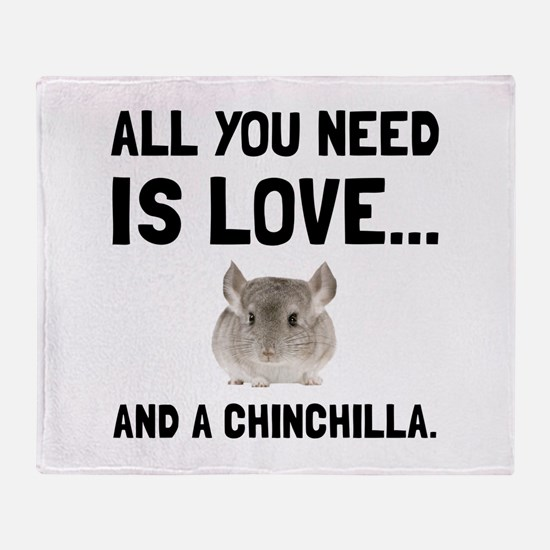Love And A Chinchilla Throw Blanket