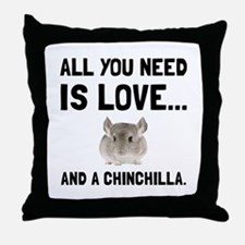 Love And A Chinchilla Throw Pillow