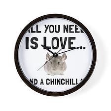 Love And A Chinchilla Wall Clock