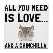 Love And A Chinchilla Tile Coaster