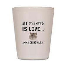 Love And A Chinchilla Shot Glass