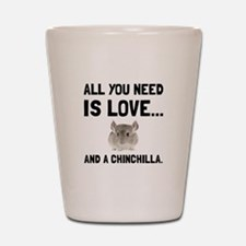 Love And A Chinchilla Shot Glass