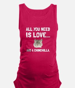 Love And A Chinchilla Maternity Tank Top