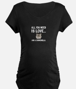 Love And A Chinchilla Maternity T-Shirt