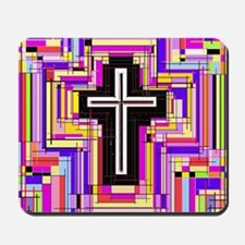 The Stained Glass Cross. Mousepad