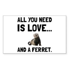 Love And A Ferret Decal