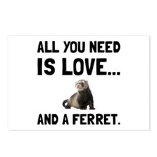 Love And A Ferret Postcards (Package of 8)