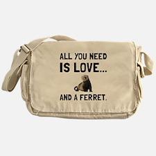 Love And A Ferret Messenger Bag