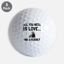 Love And A Ferret Golf Ball