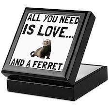 Love And A Ferret Keepsake Box