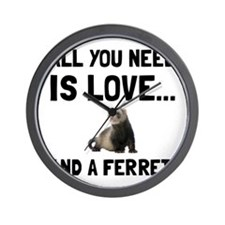 Love And A Ferret Wall Clock