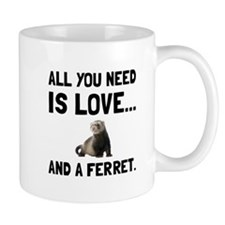 Love And A Ferret Mugs