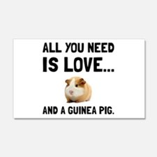 Love And A Guinea Pig Wall Decal