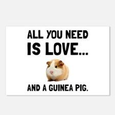 Love And A Guinea Pig Postcards (Package of 8)