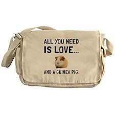 Love And A Guinea Pig Messenger Bag