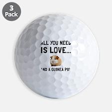 Love And A Guinea Pig Golf Ball