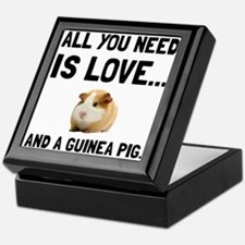 Love And A Guinea Pig Keepsake Box
