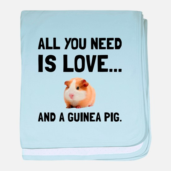 Love And A Guinea Pig baby blanket
