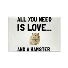 Love And A Hamster Magnets