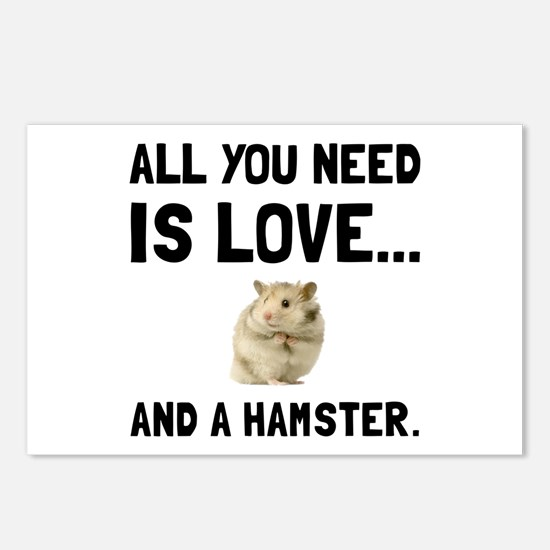 Love And A Hamster Postcards (Package of 8)