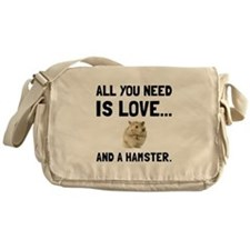 Love And A Hamster Messenger Bag
