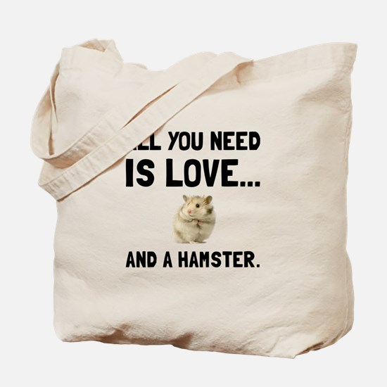 Love And A Hamster Tote Bag