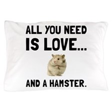 Love And A Hamster Pillow Case
