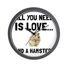 Love And A Hamster Wall Clock