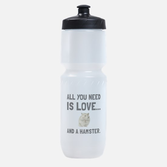 Love And A Hamster Sports Bottle