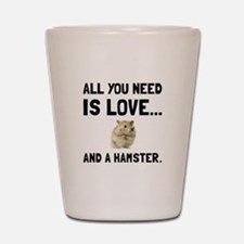 Love And A Hamster Shot Glass