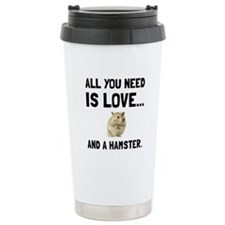 Love And A Hamster Travel Mug