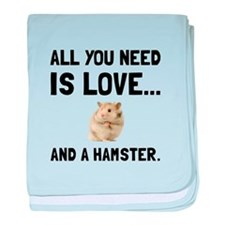 Love And A Hamster baby blanket