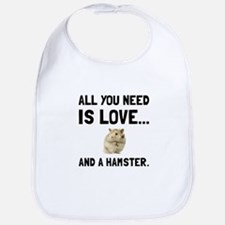 Love And A Hamster Bib