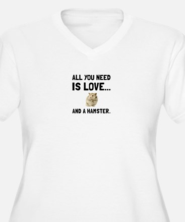 Love And A Hamster Plus Size T-Shirt