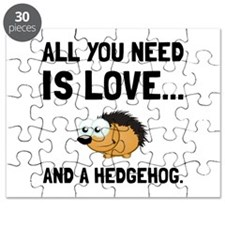 Love And A Hedgehog Black Puzzle
