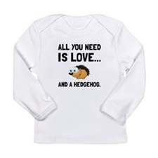 Love And A Hedgehog Black Long Sleeve T-Shirt