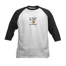 Love And A Hedgehog Black Baseball Jersey