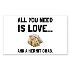 Love And A Hermit Crab Decal