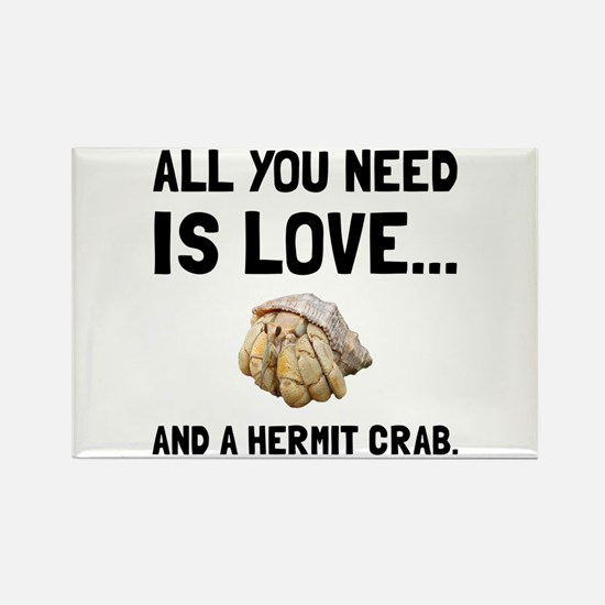 Love And A Hermit Crab Magnets