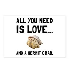 Love And A Hermit Crab Postcards (Package of 8)