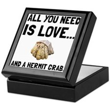 Love And A Hermit Crab Keepsake Box