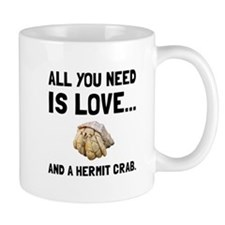 Love And A Hermit Crab Mugs