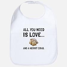 Love And A Hermit Crab Bib
